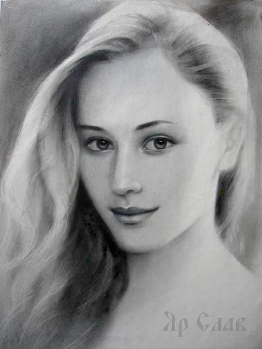Портрет дівчини графіка